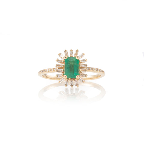 Linnea Emerald Ring