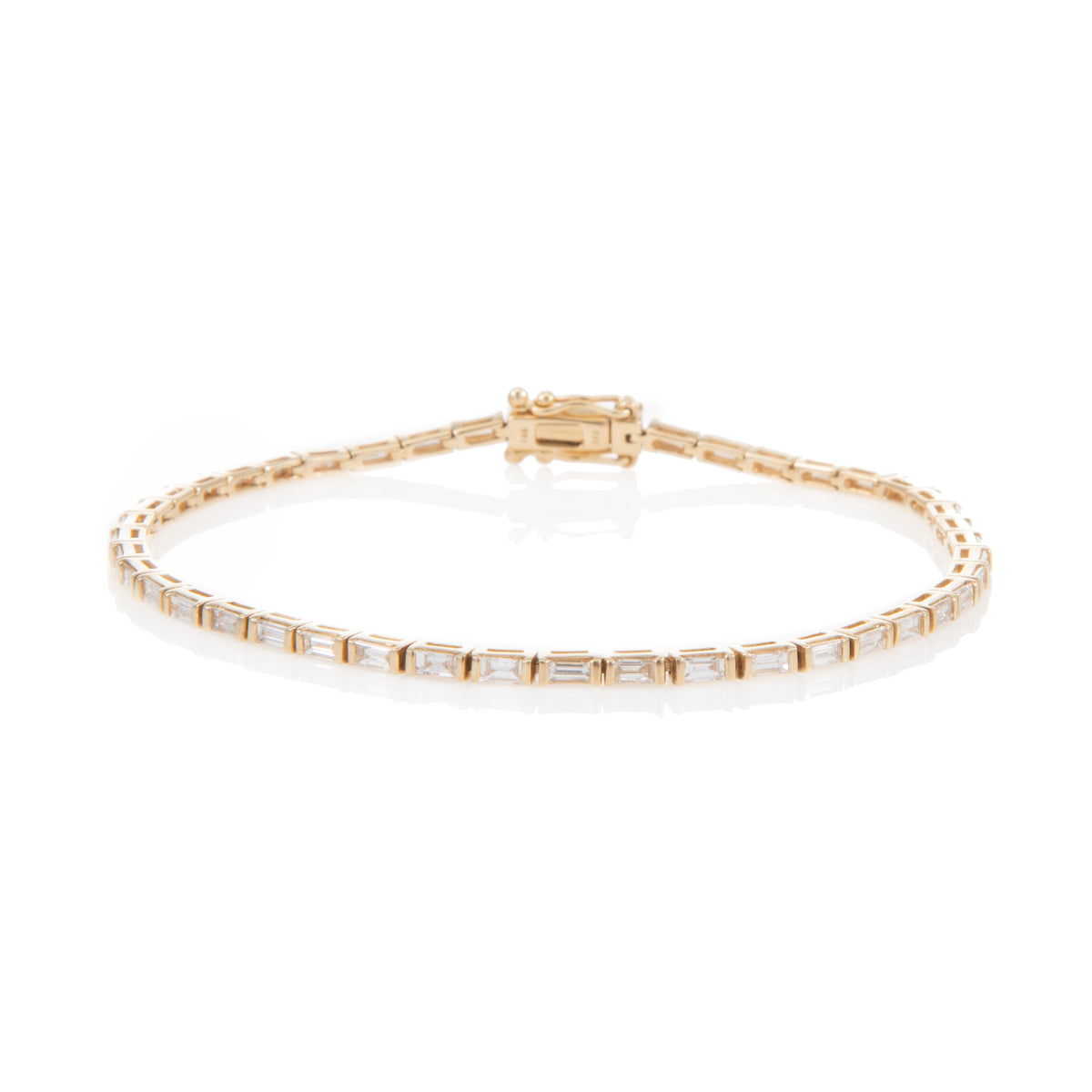 Petite London Baguette Tennis Bracelet