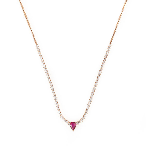 Mila Choker with Teardrop Ruby
