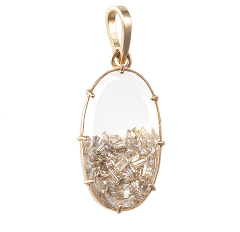 Oval Diamond Shaker Charm