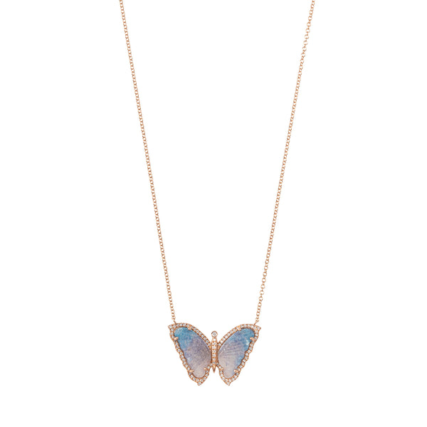 Paraiba Tourmaline Butterfly Necklace