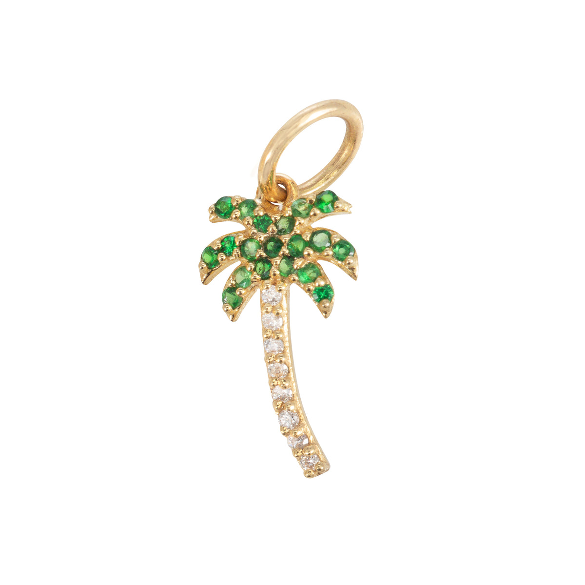 Peridot Palm Tree Charm