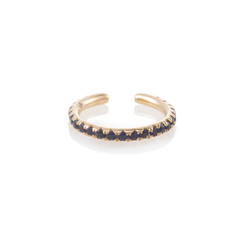 Single Row Sapphire Ear Cuff