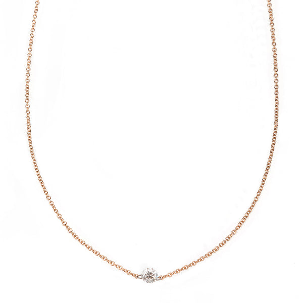 Single Floating Diamond Necklace