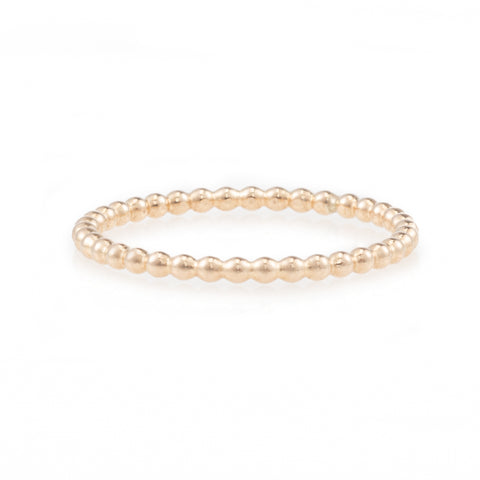 Thin Plated Beaded Band