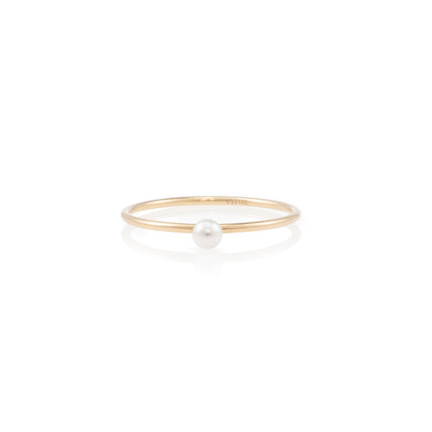 Thin Plated Pearl Ring