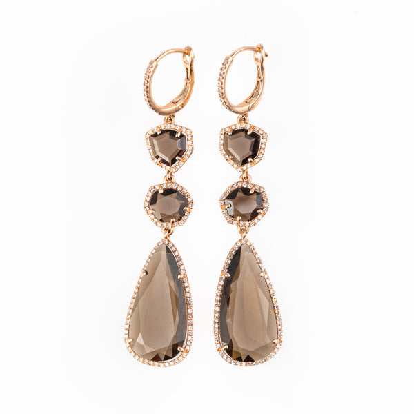 Zelda Smoky Quartz Drop Earrings