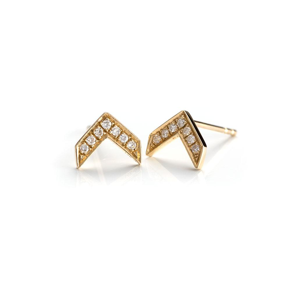 Arrow Studs-Earrings-Zofia Day Co.