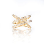 Baguette and Diamond Wrap Ring-Rings-Zofia Day Co.
