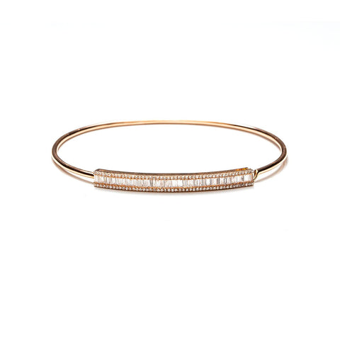 Baguette Bar Bangle-Bracelets-Zofia Day Co.
