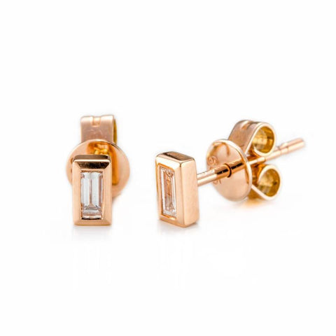 Baguette Classic Studs-Earrings-Zofia Day Co.