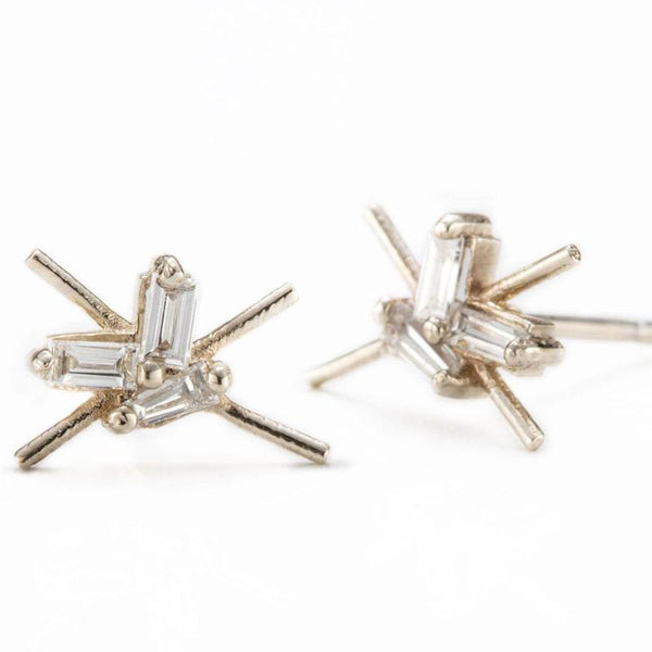 Baguette Cosmo Studs-Earrings-Zofia Day Co.