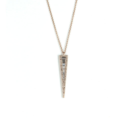 Baguette Dagger Necklace-Necklaces-Zofia Day Co.