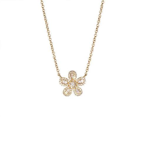 Baguette Daisy Necklace-Necklaces-Zofia Day Co.