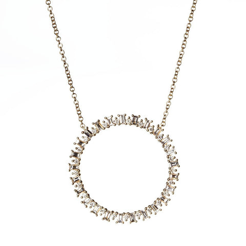 Baguette Open Burst Necklace-Necklaces-Zofia Day Co.