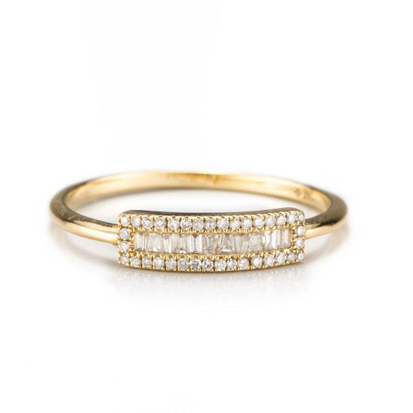 Baguette Petite Shield Ring-Rings-Zofia Day Co.