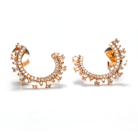 Baguette Spiral Studs-Earrings-Zofia Day Co.