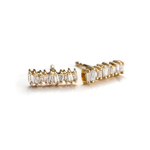 Baguette Stick Studs-Earrings-Zofia Day Co.