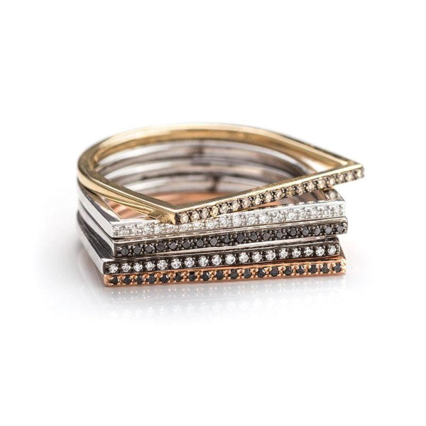 Bar Stack Rings-Rings-Zofia Day Co.