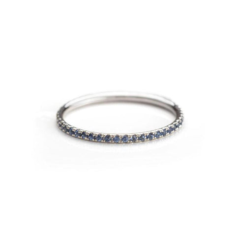 Blue Light Sapphire Eternity Band-Rings-Zofia Day Co.