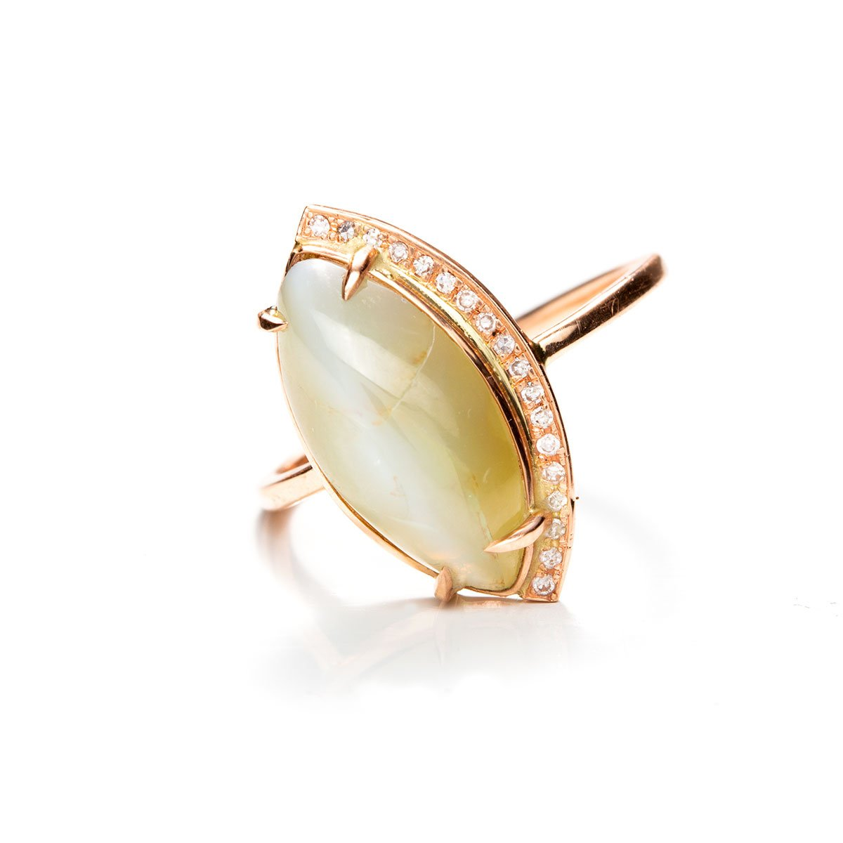 Cat Eye Crescent Ring-Rings-Zofia Day Co.