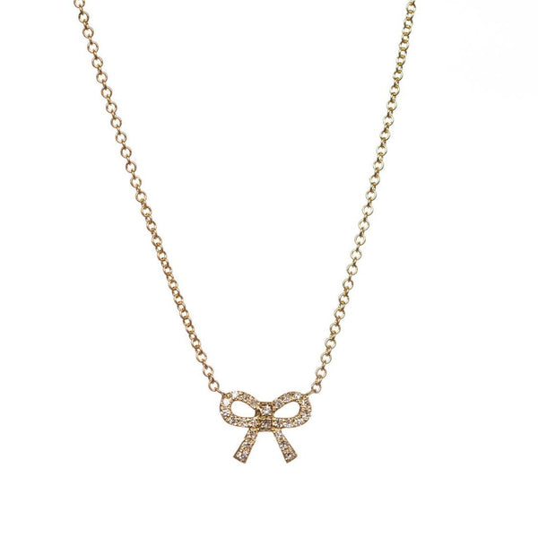 Charlotte Bow Necklace-Necklaces-Zofia Day Co.
