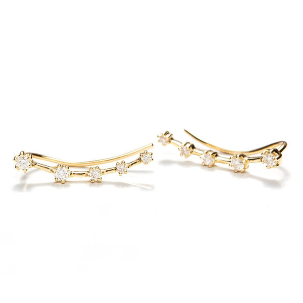 Diamond Constellation Crawlers-Earrings-Zofia Day Co.
