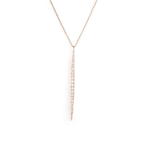 Diamond Drip Necklace-Necklaces-Zofia Day Co.