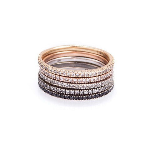 Diamond Stack Ring-Rings-Zofia Day Co.