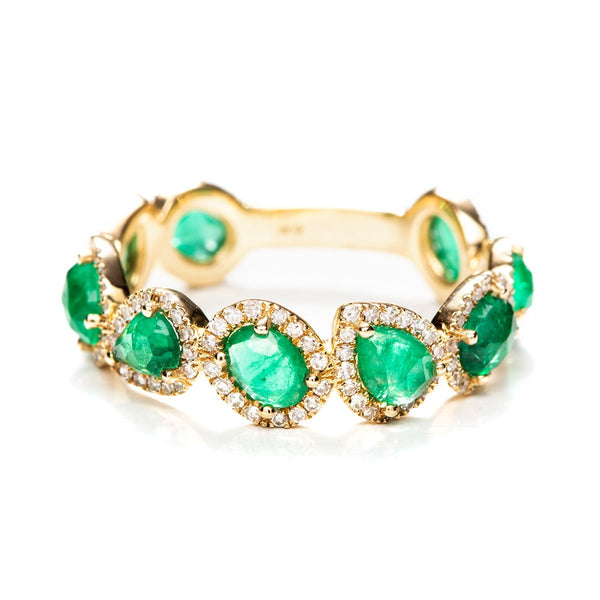 Dynasty Emerald Ring-Rings-Zofia Day Co.