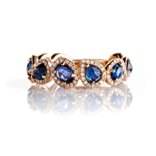 Dynasty Sapphire Ring-Rings-Zofia Day Co.
