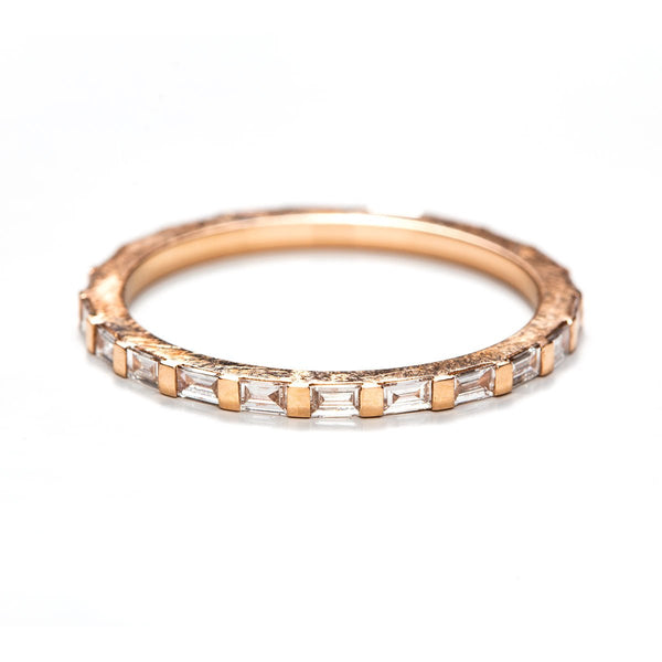 East West Baguette Eternity Band-Rings-Zofia Day Co.