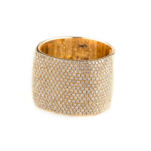 Eira Pave Cube Ring-Rings-Zofia Day Co.