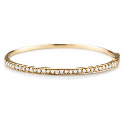 Eloise Pearl Bangle-Bracelets-Zofia Day Co.