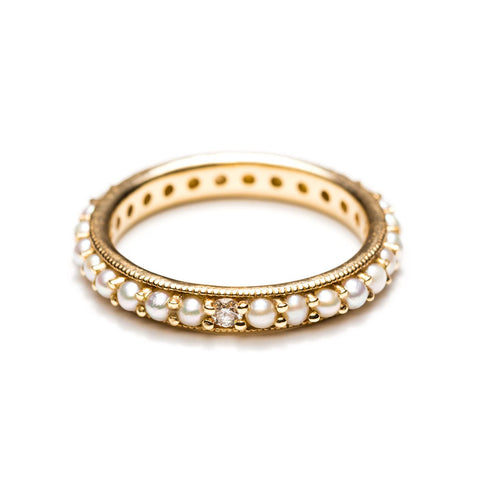 Eloise Pearl Eternity Band-Rings-Zofia Day Co.