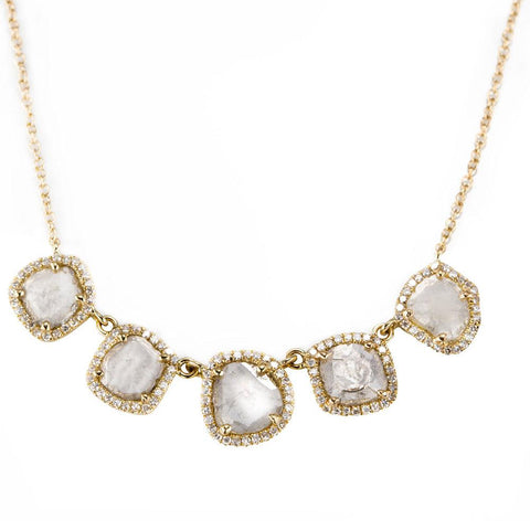 Fia Five Slice Diamond Necklace-Necklaces-Zofia Day Co.