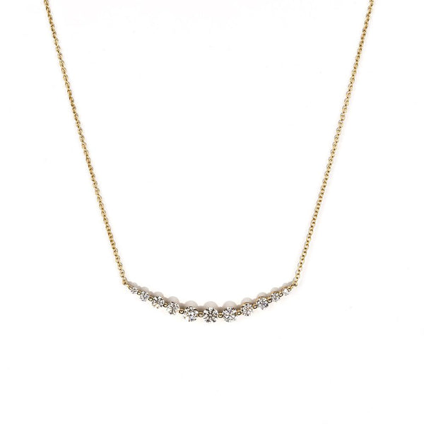 Floating Diamond Crescent Necklace-Necklaces-Zofia Day Co.
