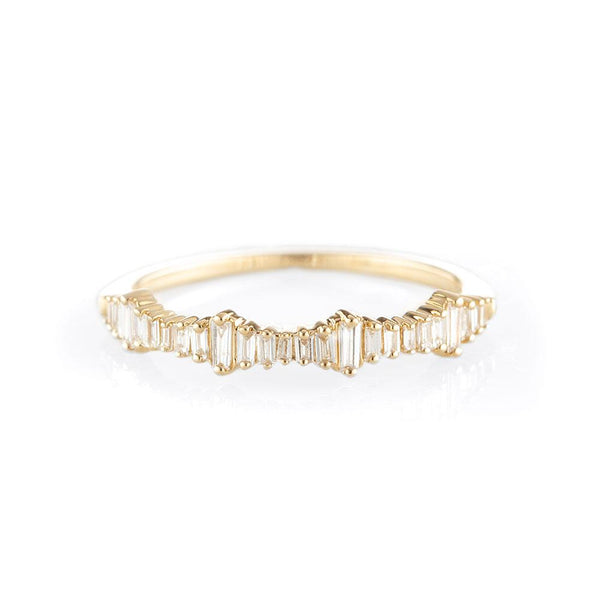 Heartbeat Baguette Ring-Rings-Zofia Day Co.