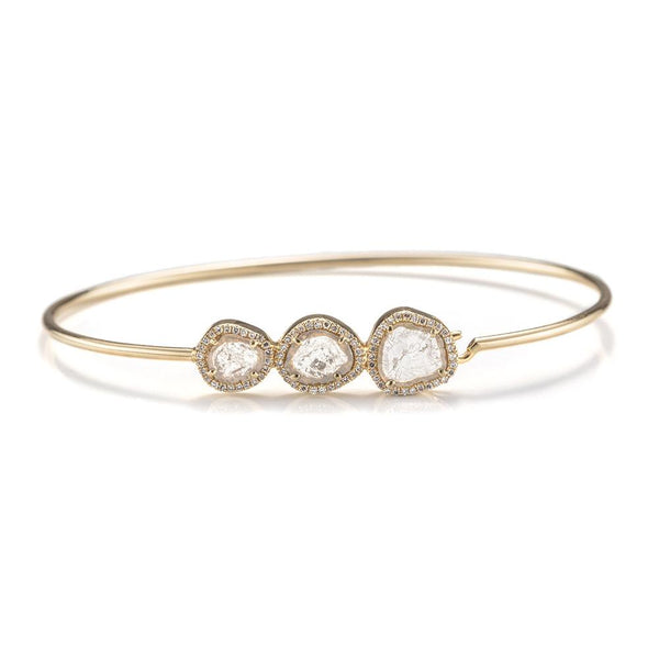 Juniper Slice Diamond Bangle-Bracelets-Zofia Day Co.