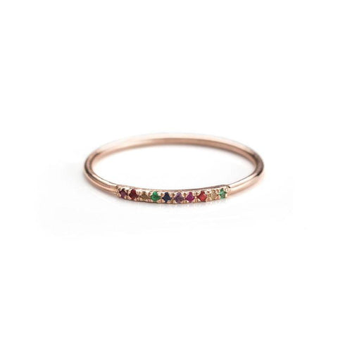 Little Rainbow Ring-Rings-Zofia Day Co.