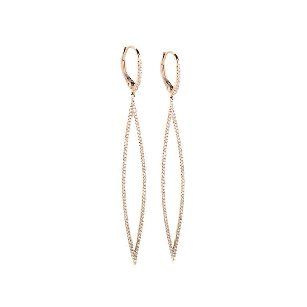 Marquise Dangle Earrings-Earrings-Zofia Day Co.