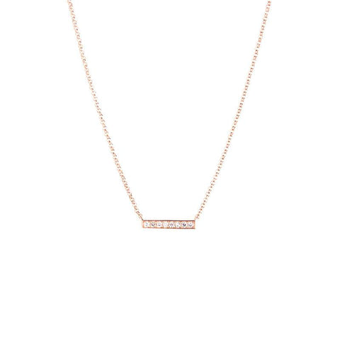 Mini Bar Necklace-Necklaces-Zofia Day Co.