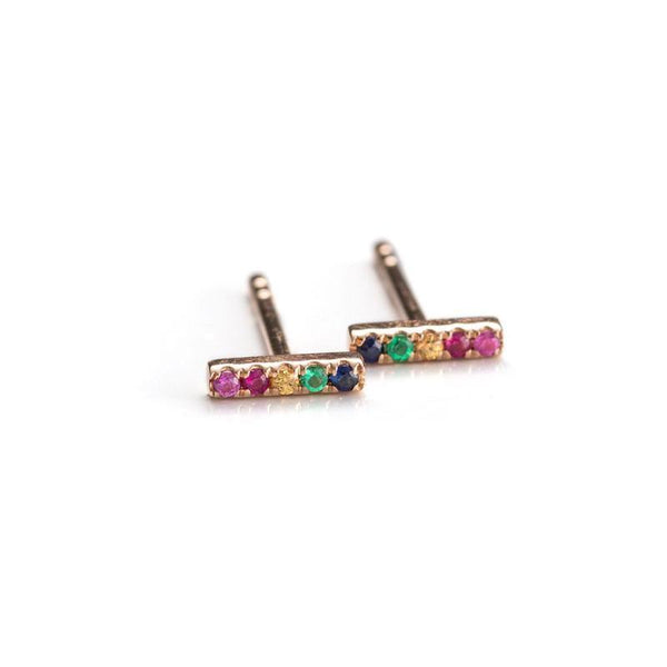 Mini Rainbow Bars-Earrings-Zofia Day Co.
