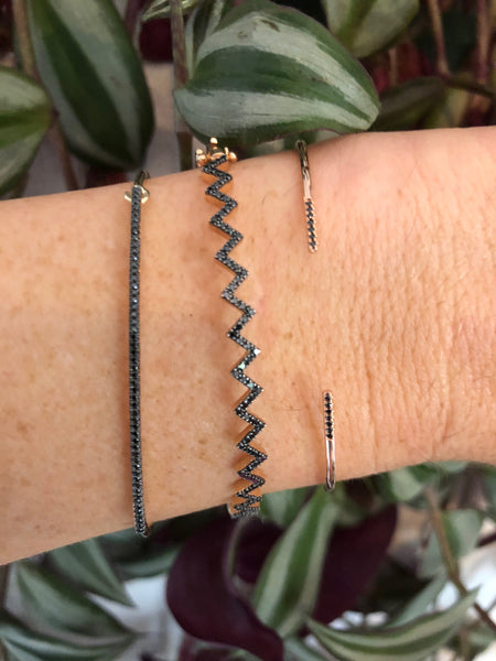 Open Diamond Cuff-Bracelets-Zofia Day Co.