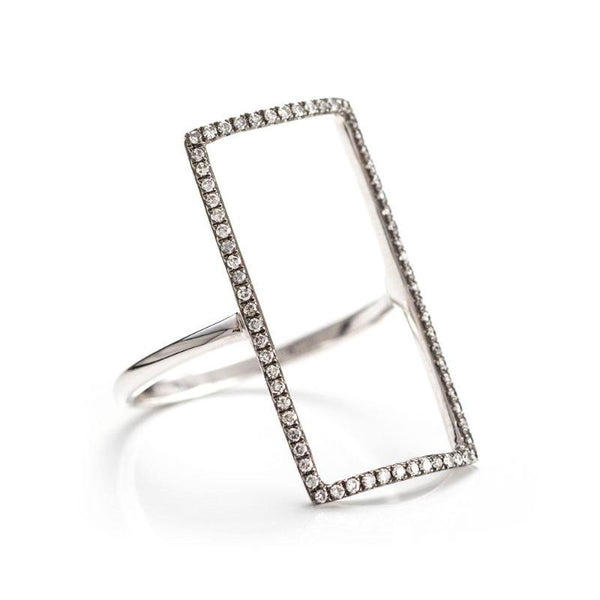 Open Rectangle Ring-Rings-Zofia Day Co.