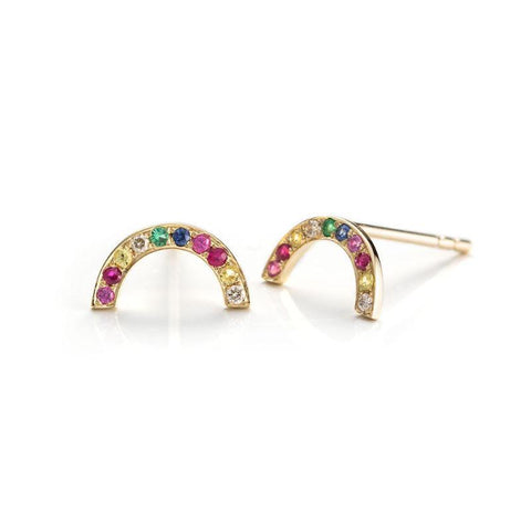 Over the Rainbow Studs-Earrings-Zofia Day Co.