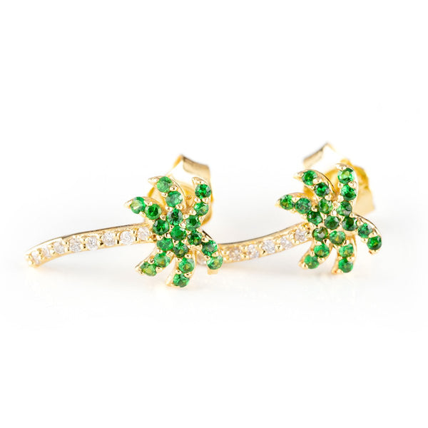 Peridot Palms-Earrings-Zofia Day Co.