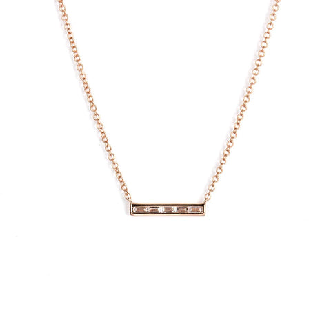 Petite Baguette Bar Necklace-Necklaces-Zofia Day Co.