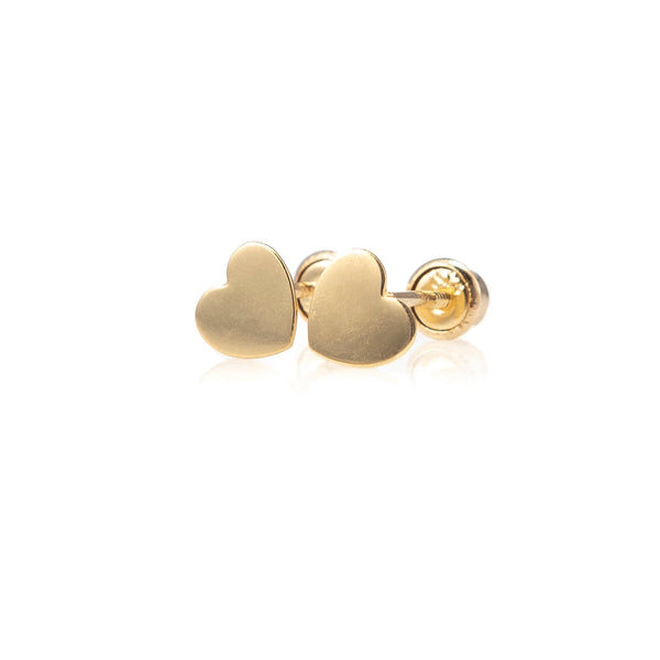 Petite Children's Heart Studs-Earrings-Zofia Day Co.