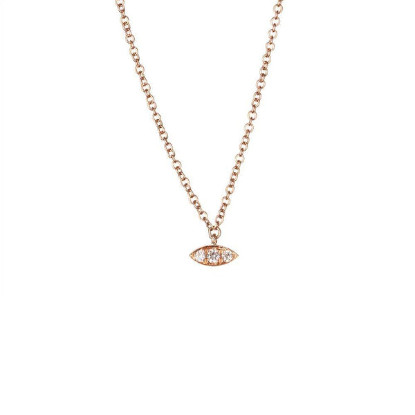 Petite Evil Eye Necklace-Necklaces-Zofia Day Co.